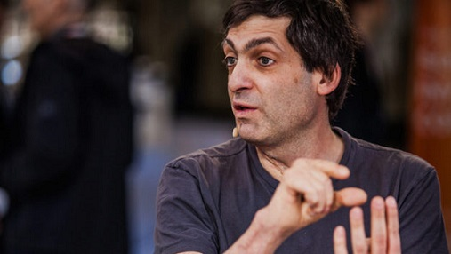 Dan Ariely, Duke Professor of Psychology & Behavioural Economics, is photographed while speaking at the SOHN Confrence in New York, NY, U.S on Monday, May 5, 2014